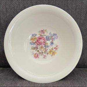 Edwin M Knowles China Co Semi Vitreous Floral Bowl
